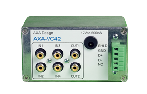 AXA-VC42 4 INPUT x 2 OUTPUT VIDEO COMPOSITE SWITCHER